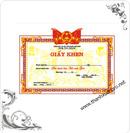 Tp. Hà Nội: Sản xuất, bán buôn, bán lẻ phôi giấy khen, bằng khen, chứng nhận, chứng chỉ. CL1081082P6