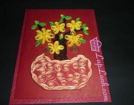 Thiệp giấy cuộn chúc mừng năm mới / Thiệp năm mới / Happy new year
