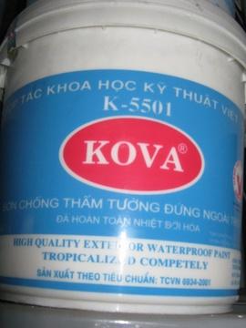 Bán sơn Kova ngoại thất cao cấp bán bóng.