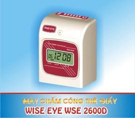 máy chấm công thẻ giấy wise eye 2600A/ D giá tốt +hàng mới