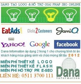 Mừng xuân mới 2012 TK Web1. 500. 000vnd + Tặng domain, hosting + hóa đơn đỏ (VAT)