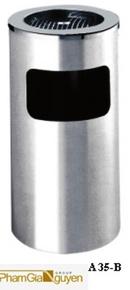 Tp. Hồ Chí Minh: thùng rác inox dùng cho công sở - thùng rác inox A 35B- giá tốt nhất tại HCM CL1089385