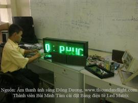 Khóa học lắp ráp bảng Led Matrix từ các module TQ tại Đông Dương, 0908455425