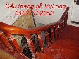 cầu thang gỗ VũLong 031