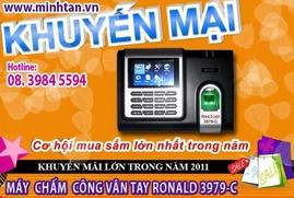 máy chấm công vân tay 3979C- hàng cao cấp - giá rẽ 0917 321 606
