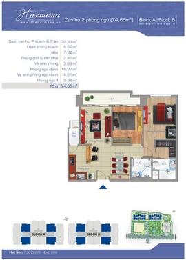 bán các căn hộ harmona 2 phòng ngủ giá rẻ -0989 840 246