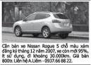 Tp. Hồ Chí Minh: Cần bán xe Nissan Rogue 5 chỗ màu xám đăng ký tháng 12 năm 2007, xe còn mới 95%, CL1095916