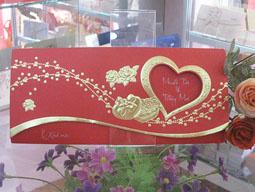 Thiệp cưới Hồng Huệ khuyến mại giảm giá: 1. 800đ/ c tại 117 Cầu Diễn