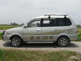 Bán xe Zace sx T12/ 202 màu ghi trắng, xe đẹp nội thất da, cản trước sau, mâm sup