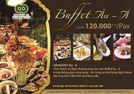 Buffet Âu- Á tại nhà hàng Ngự Hoàng- khách sạn Lake Side 23 Ngọc Khánh