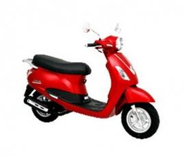 Xe Attila màu đỏ, đời chót, kiểu dáng LX, dán màu trắng từ mới, CC nữ sử dụng rấ