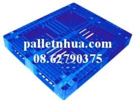 Pallet nhựa một mặt đã qua sử dụng màu xám
