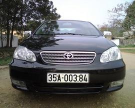 Bán Xe Toyota Corolla Altis 1. 8G 2002, màu đen, tư nhân chính chủ giá 385 Triệu