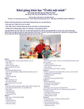 Mở lớp dạy nấu ăn hè cho học sinh phổ thông-Trung tâm dạy nghề ăn uống Sao Mai