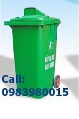 Bán Thùng rác nhựa 2 bánh xe ,55L đến 660L