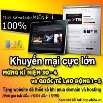 Thiết kế web miễn phí tại Nam ĐỊnh từ 15/ 4 - 15/ 5 - b2a. vn