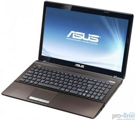 Laptop Asus K53E-SX1734 (Màu Nâu), Intel Core i3 2350M, Ram 2GB, HDD 500GB