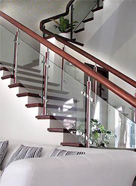 thi công cầu thang kính, cung cấp trụ cầu thang lan can kính, bản lề sàn vvp