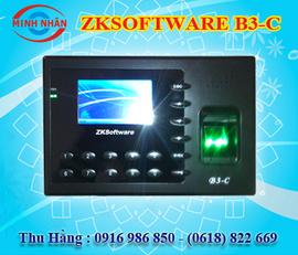 máy chấm công vân tay và thẻ cảm ứng ZK-Soft Ware B3-C. sản phẩm được tin dùng