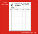Tp. Hà Nội: order nhà hàng, order liên, order các kích cỡ, order theo mẫu yêu cầu CUS15875