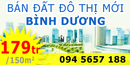 Tp. Hồ Chí Minh: Bán đất đô thị Mỹ Phước 3 ngay khu biệt thự Hoàng Gia chỉ 179 triệu/ 150m2, đất n CL1122978