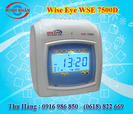 máy chấm công thẻ giấy wise eye 7500A/ 7500D. tặng kèm 300 thẻ và 1 giá để thẻ