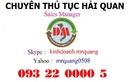 Tp. Hồ Chí Minh: chuyên dịch vụ hải quan 0932200005 CL1126649