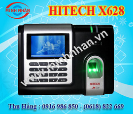 máy chấm công vân tay hitech X628 thích hợp cho các KCN