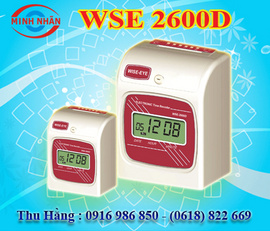máy chấm công thẻ giấy Wise eye 2600A/ 2600D. phù hợp cho văn phòng , nhà xưởng