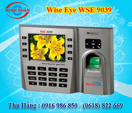 máy chấm công vân tay và thẻ cảm ứng wise eye 9039 phù hợp cho văn phòng, KCX