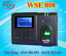 máy chấm công vân tay và thẻ cảm ứng Wise eye 808. phù hợp cho các KCX