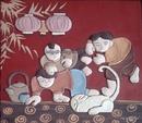 Bắc Ninh: tranh gốm Phù lãng (tranh trừu tượng, tranh đồng quê, tranh trò chơi dân gian. .. CL1167717P6