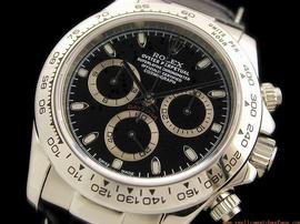 Rolex Daytona Black Dial Diamond Mens Watch MS218