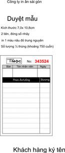Tp. Hồ Chí Minh: Chuyên in giá rẽ : cuốn phiếu giữ xe, cuốn order nhà hàng, phiếu thu chi, ... . CL1133668