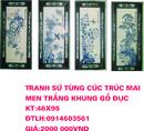 Tp. Hà Nội: cơ sở tranh sứ NGỌC MƯA chuyên sản xuất tranh bộ tứ quý, cổ đồ ,đồng quê phố cổ CL1167103P11