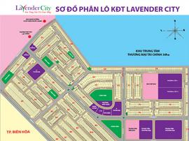 Chấn động Biên Hòa, dự án Lavender city : 185tr/ nền - lô góc 220tr/ nền