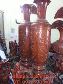 Bắc Ninh: Lộc bình gỗ Cham ba mặt LB18 CL1161088