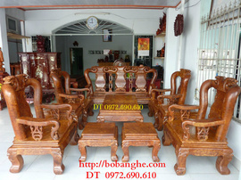 Bộ bàn ghế phòng khách Minh Quốc Gỗ Nu nghiến MS :NG-08