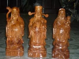 Tam đa Phúc – Lộc – Thọ gỗ Hương TĐ03
