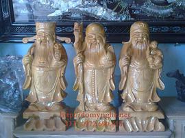 Ông Tam đa Phúc – Lộc – Thọ gỗ Pomu TĐ05