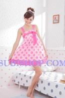 Tp. Hồ Chí Minh: Đầm ngủ kiểu Korea chấm hồng to - DKM452 CL1164499