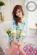 Tp. Hồ Chí Minh: Đầm ngủ kimono xanh hoa biển - DKM401 CL1164499