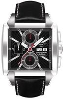Tp. Hồ Chí Minh: Đồng hồ Tissot Men's Quadrato Black Leather Automatic Chronograph CL1163649