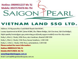 Saigon pearl Apartments for lease