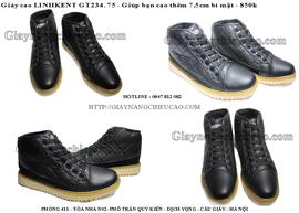 Giày nam cao Linh Kent GT234. 75