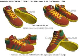 Giày nam nâng chiều cao trẻ trung Linh Kent GT236. 75