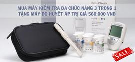 Khuyến mãi lớn: Máy đo đường huyết Benecheck Plus - Tặng máy đo huyết áp