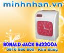 Tp. Hồ Chí Minh: Máy chấm công thẻ giấy RONALD JACK RJ 2200A tặng 500 thẻ chấm công CL1164193