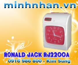 Máy chấm công thẻ giấy RONALD JACK RJ 2200A tặng 500 thẻ chấm công