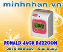 Tp. Hồ Chí Minh: Máy chấm công thẻ giấy RONALD JACK RJ 2200N-chia 3 ca làm việc-lh kim sung CL1164193